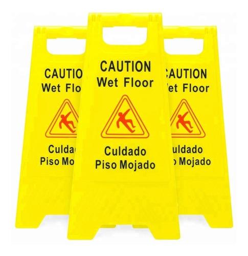 aviso piso mojado