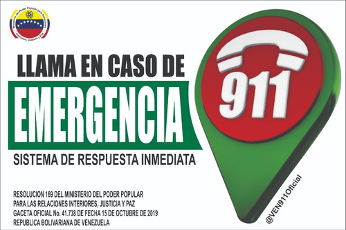 avisos 911 emergencia con normativa legal