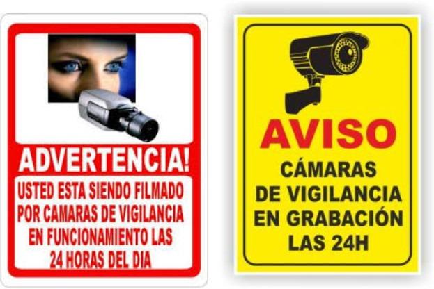 Avisos de seguridad bajo normas covenin bs - Camaras de vigilancia con grabacion ...