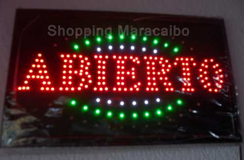 avisos led altamente luminosos  abierto