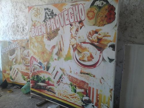 avisos publicitarios para comida rapida y perros calientes