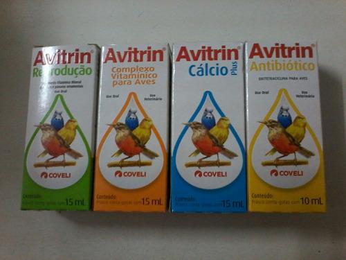 avitrin reprodução, vitamínico,cálcio e antibiótico