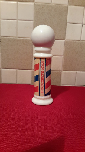 avon barber pole bote d perfume incompleto d coleccion c2792