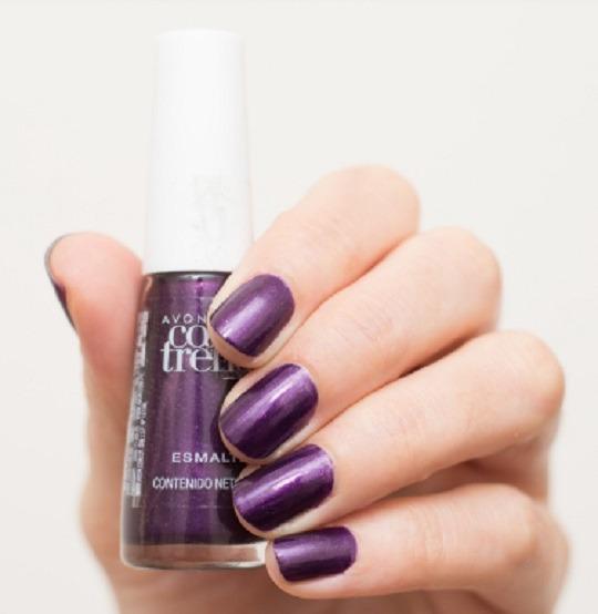 Avon Esmalte De Uñas Color Violeta Salvaje Gabydith