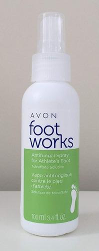 avon foot works antifúngica foot pump spray mal olor de pie