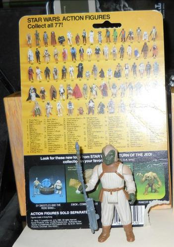 avv klaatu in skiff guard c10++ card v190 star wars vintage