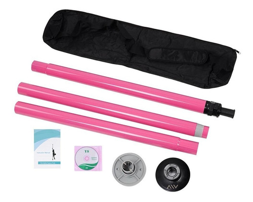 aw portable non-spinning dance pole full kit package exer
