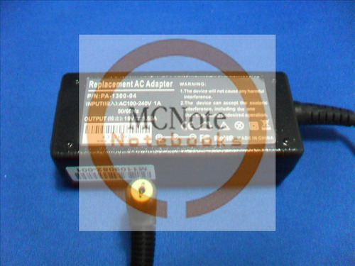 aw011 fonte netbook acer one adp-30jh 19v 1.58a pa-1300-04