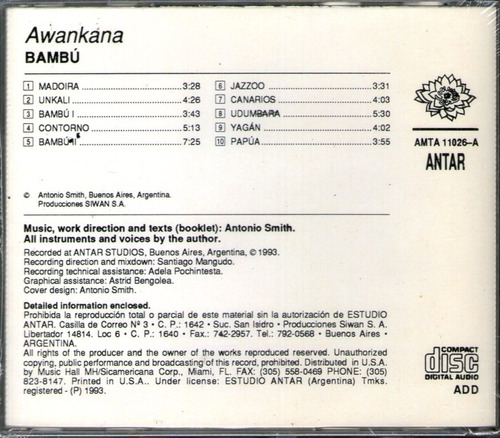 awankana - bambu - new age - ambient - cd