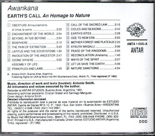 awankana -el llamado de la tierra - new age - ambient - cd