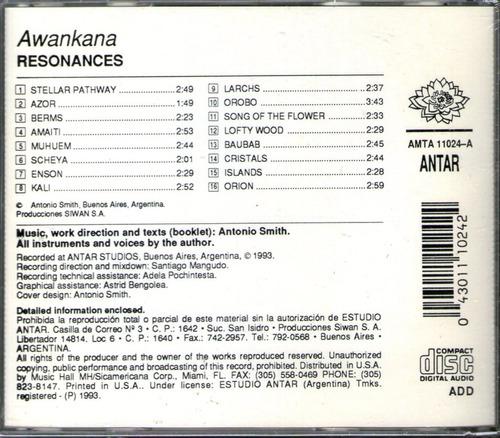 awankana - resonancias - new age - ambient - cd