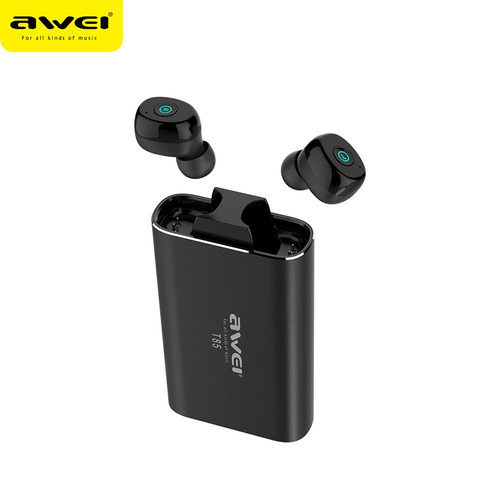 awei t85 tws auriculares inalmbricos auriculares mini