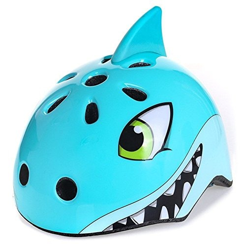 awesome boys / girls shark safety helmet niños multi-spor...