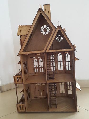 ax casa casinha boneca mdf - modelo unico - 25 móveis gratis