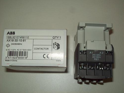 ax18-30-10-81 24vca contator abb