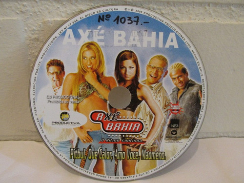 axe bahia - pitbull ( cd single exclusivo )
