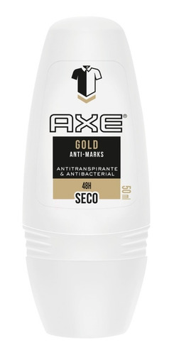 axe gold antimarks men rollon x50ml