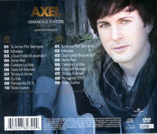 axel grandes éxitos 2005/2011 cd + dvd nuevo cerrado