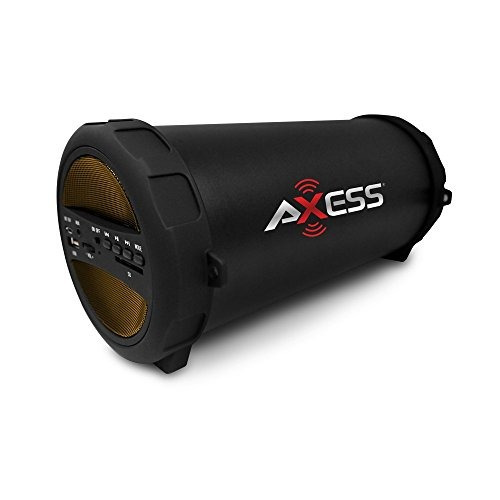 axess spbt1041yl portable thunder sonic bluetooth cilindro a