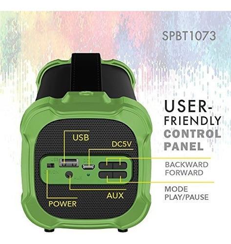 axess spbt1073 parlante bluetooth portatil para interior y e