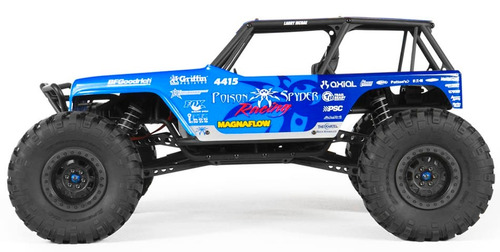 axial 1/10 wraith jeep wrangler 4wd poison spyder rtr rc