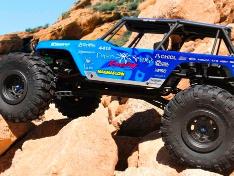 axial racing 1/10 wraith jeep wrangler 4wd poison spyder