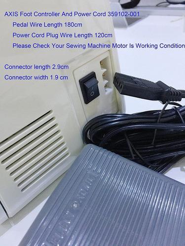 axis controlador de pie cable de alimentación pedal singer