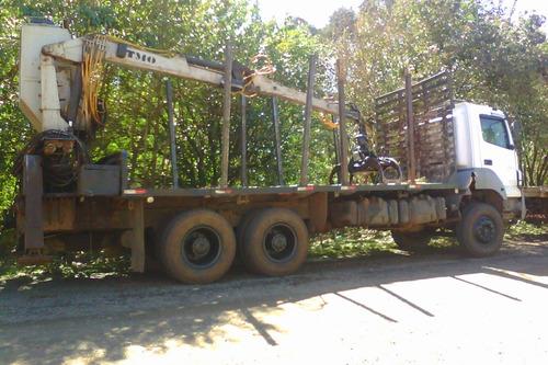 axor 3344 transtora com grua florestal tmo 7.70