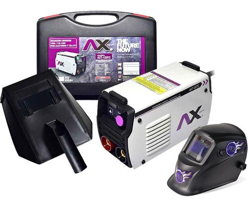axt-p120tc soldador inversor 120a 110v axtech c/careta elect