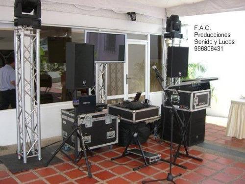 ayma sonido luces dj backline micros fiestas ( 996806431)
