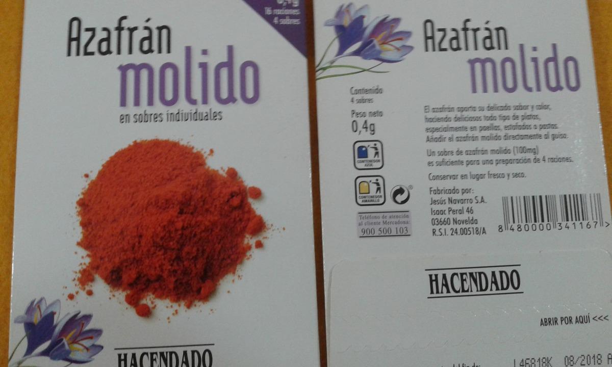 Azafran Molido Espanol Hacendado 249 00 En Mercado Libre