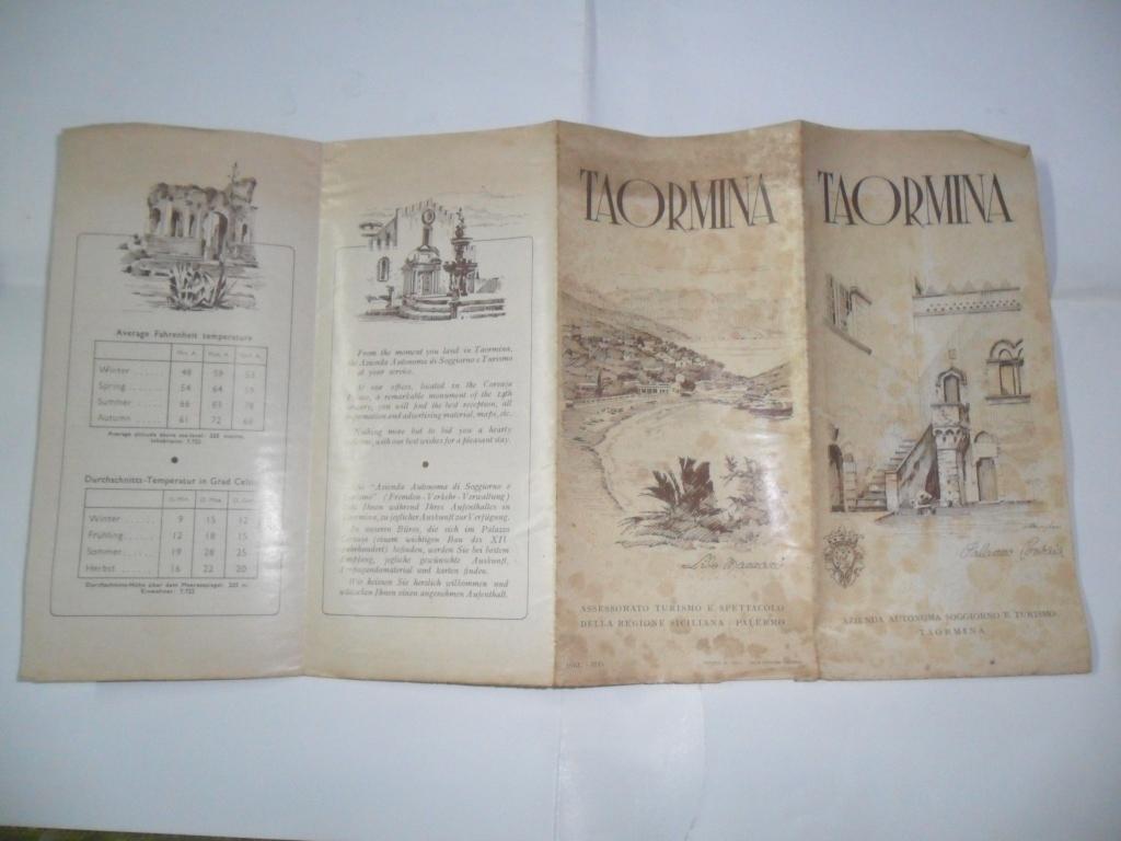 Azienda Autonoma Di Soggiorno Taormina 1968 Plano Mapa Saiga - $ 99 ...