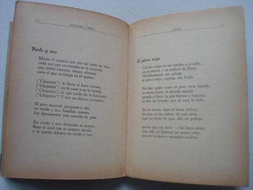 azor, nuevos poemas - alfonso camin - con dedicatoria
