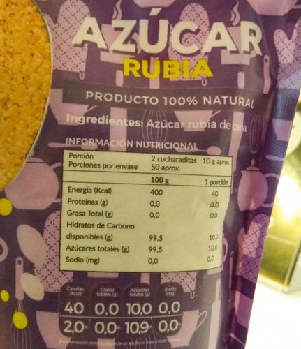 azúcar rubia de caña - 500 gr - ecovida