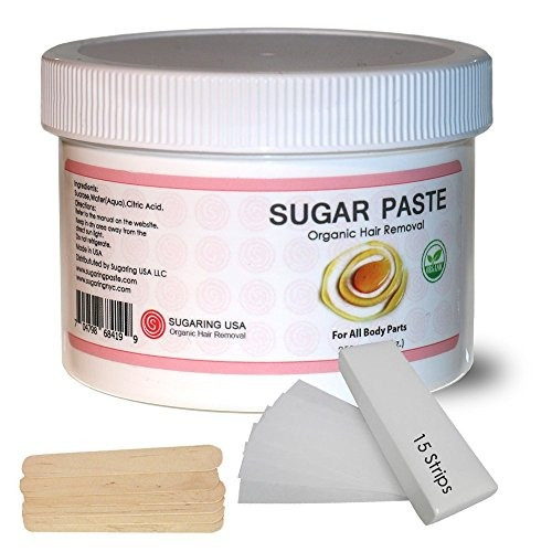 azucarado tiras de depilación pegar en casa  kit aplicador s