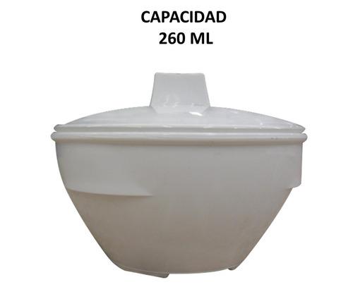 azucarera blanca plástico c/tapa  260 ml 12 pz incluye envío