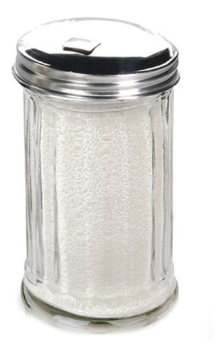 azucarera de vidrio tapa de acero 100% diseño
