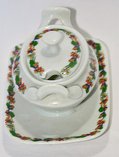 azucarera o dulcera porcelana schmidt brasil bandejita