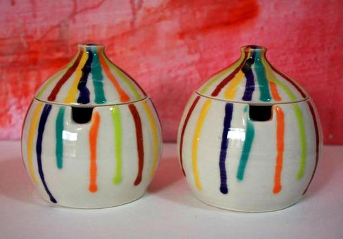 azucarera, yerbera, cerámica artesanal, regalo, mate azucar