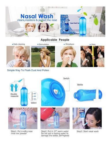 azul 500 alergia lavado nasal sinusitis nariz pot agua suero