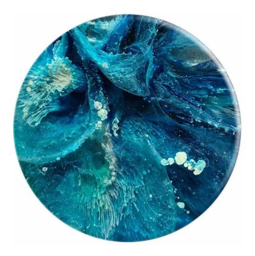 azul abstracto de arte - popsockets agarre y soporte para te