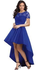 Azul Rey Elegante Vestido De Fiesta Boda Noche