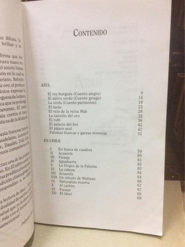 azul - rubén darío - poesía - ed. panamericana.