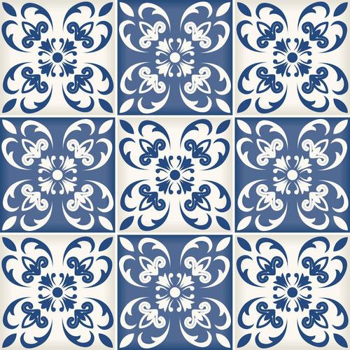 azulejo azul adesivo