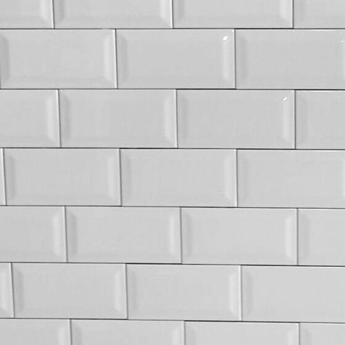 azulejo biselado blanco brillante subway 7.5x15 subte cocina