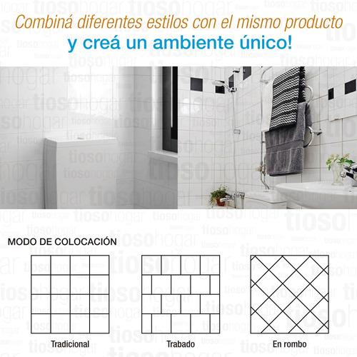 azulejo blanco brillante 15x15 cm cocina vintage mosaiquismo