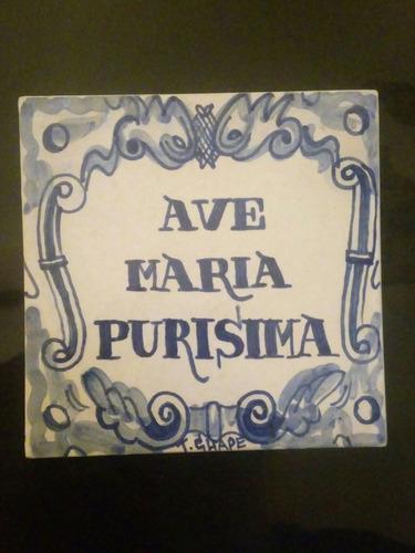 azulejo / cartel antiguo - colonia del sacramento uruguay