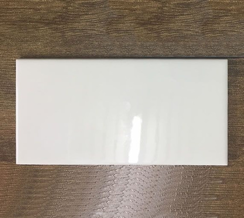 azulejo ceramico 7.5x15 cm blanco subway recto 1era