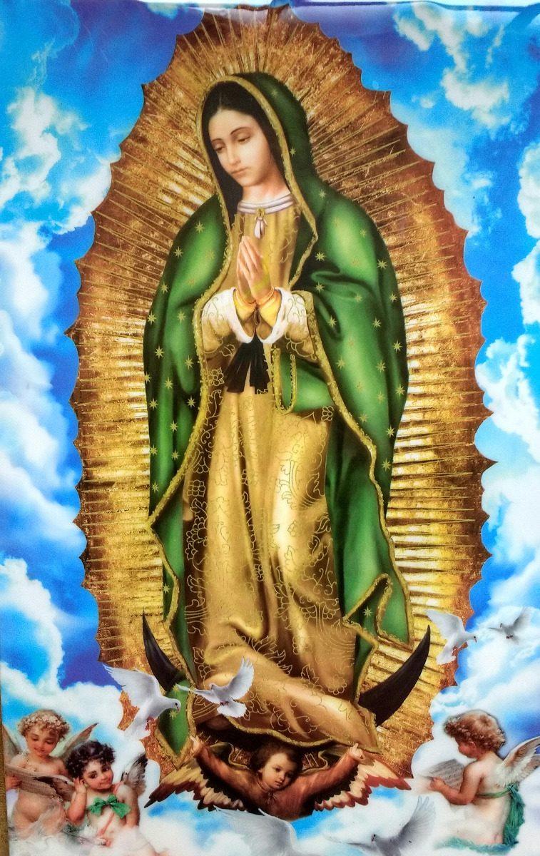 Azulejo con la imagen de la virgen de guadalupe en el cielo en mercado libre - Images of la virgen de guadalupe ...