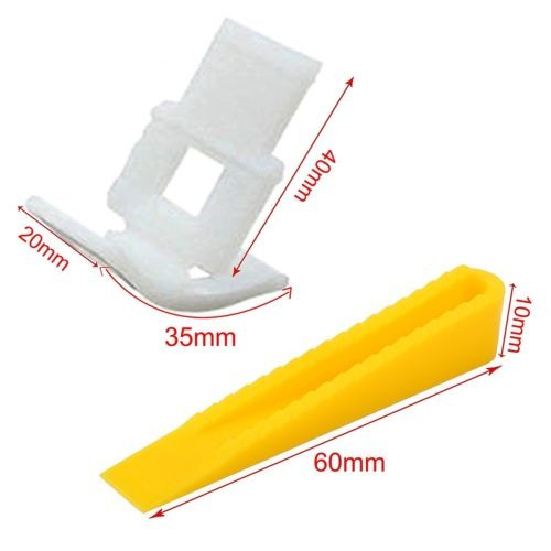 azulejo de nivelación sistema 400 clips + 200 cuñas teja